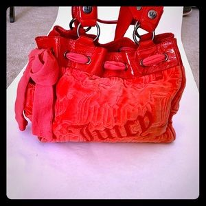 Beautiful Authentic Red Juicy Couture Handbag